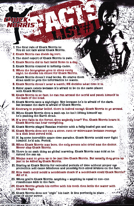 chuck facts list 1